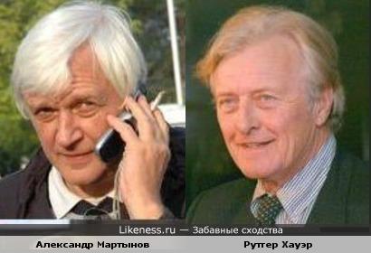 Александр Мартынов похож на Рутгера хауэра