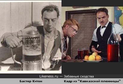 Бастер Китон напомнил известную сцену из советской киноклассики