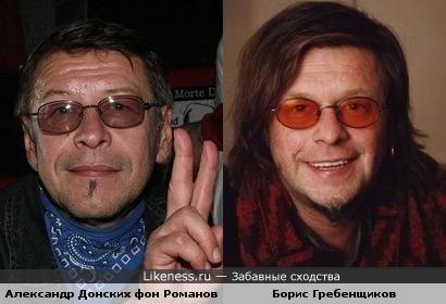 Петербургские рок-музыканты похожи