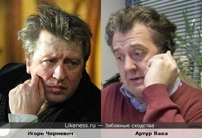 Артисты Черневич и Ваха отдаленно похожи