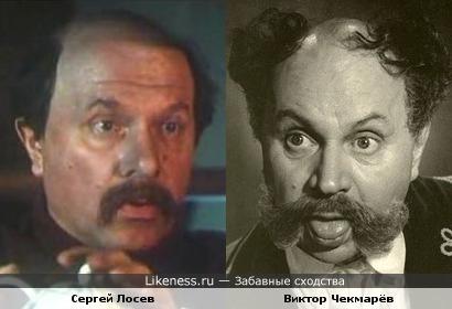 Виктор Чекмарёв в образе напомнил Сергея Лосева