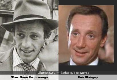Рой Шайдер немного похож на Бельмондо