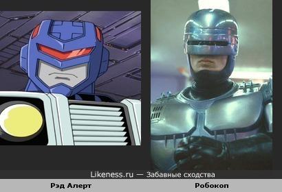 Рэд Алерт из Transformers:Armada сильно похож на Робокопа