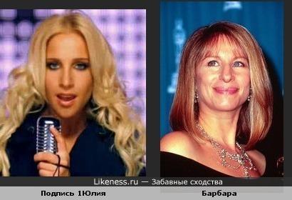 Юлия Ковальчук дочь Барбары Страйзанд?