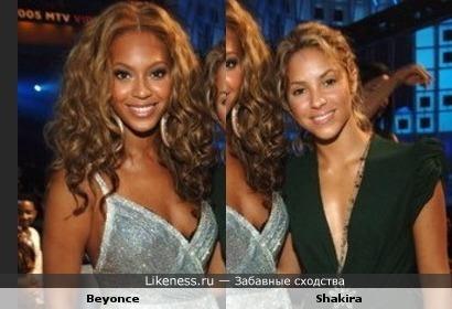Beyonce look like Shakira
