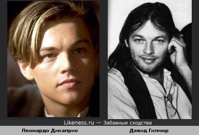 Леонардо Дикаприо похож на Девида Гилмора в молодости
