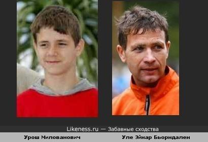 Мальчик-актер из фильмов Эмира Кустурицы очень даже напоминает супербиатлониста