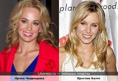Кристен Белл и Ирина Медведева