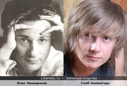 Олег Меньшиков и Глеб Матвейчук