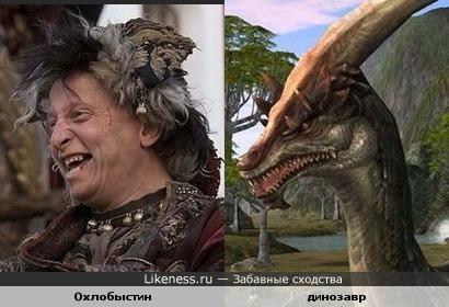 Иван Охлобыстин похож на динозавра