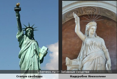 Статуя свободы похожа на надгробную статую Никколини работы Пио Феди