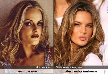 Alessandra Ambrosio и Monet Mazur