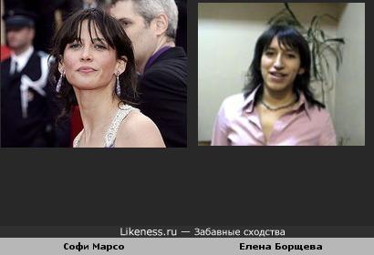 Елена Борщева похожа на Софи Марсо