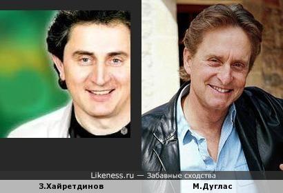 Зуфар Хайретдинов,композитор и певец из Казани похож на Майкла Дугласа.