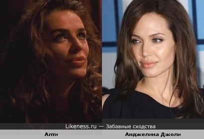 Анджелина Джоли похожа на Алти (из сериала Зена - Королева Воинов)