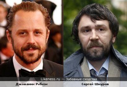 Сергей Шнуров схож с Джованни Рибизи