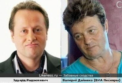 """Эдуард Радзюкевич и Валерий Дайнеко (солист ВИА """"Песняры"""", позже """"Белорусские Песняры"""")"""