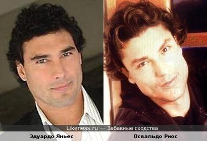 Два актера, снимающиеся в испаноязычных сериалах, Эдуардо Яньес и Освальдо Риос