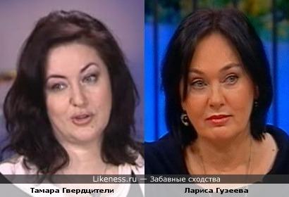 Лариса Гузеева мне напоминает Тамару Гвердцители