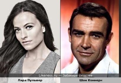 Лара Пульвер и молодой Шон Коннери