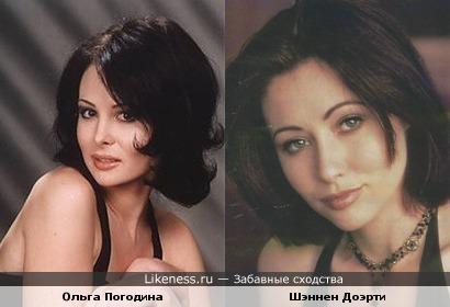 Ольга Погодина и Шэннен Доэрти