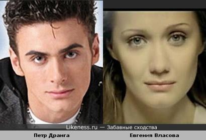 Люди с правильными чертами лица похожи :) /Петр Дранга и Евгения Власова/