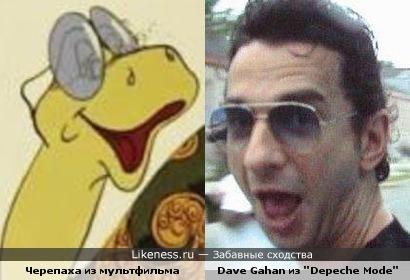"""Черепаха из мультфильма похожа на Дэйва из """"Depeche Mode"""""""