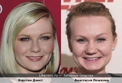 Кирстен Данст и Анастасия Ложкина похожи