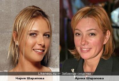 Мария и Арина Шараповы похожи друг на друга