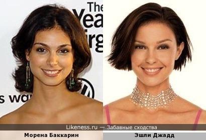 Морена Баккарин похожа на Эшли Джадд