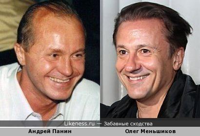 Андрей Панин был похож на Олега Меньшикова