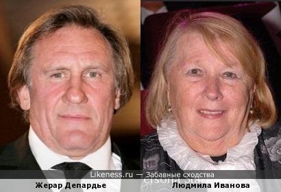Жерар Депардье получил российское гражданство, доказав свои родственные связи с Людмилой Ивановой :-)