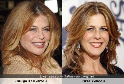 Линда Хэмилтон и Рита Уилсон похожи