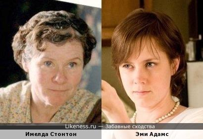 Имелда Стонтон и Эми Адамс - прямо как мама с дочкой