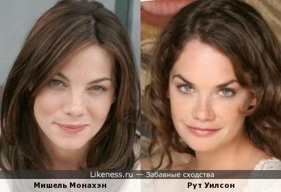 Мишель Монахэн и Рут Уилсон похожи