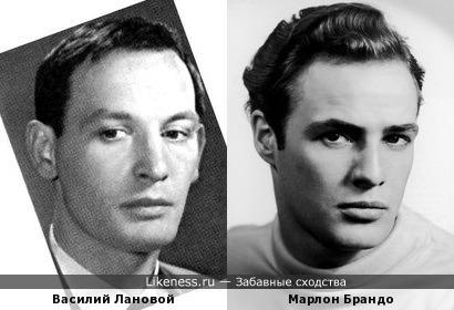 В молодости Василий Лановой и Марлон Брандо были похожи