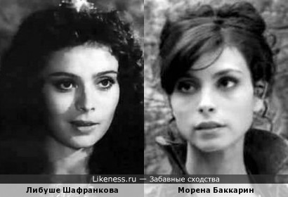 Две красавицы: Либуше Шафранкова и Морена Баккарин