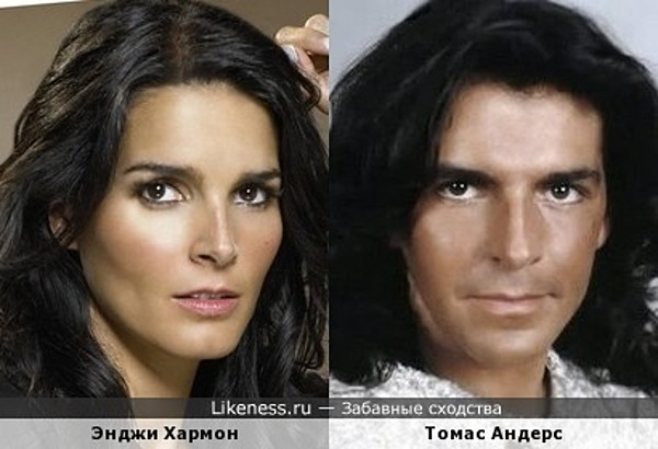 Энджи Хармон похожа на Томаса Андерса