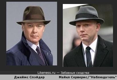 """Джеймс Спэйдер в шляпе напомнил Наблюдателя из сериала """"Грань"""""""