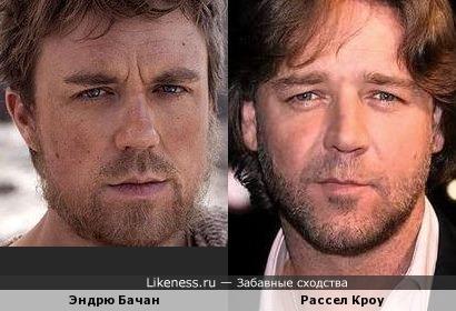 Эндрю Бачан похож на Рассела Кроу