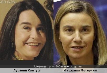Луселия Сантуш и Федерика Могерини похожи