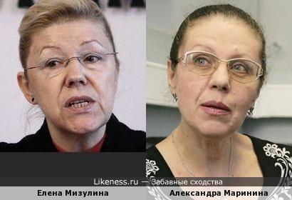 Елена Мизулина и Александра Маринина