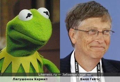 Лягушонок Кермит и Билл Гейтс похожи