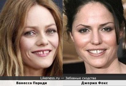 Ванесса Паради похожа на Джоржу Фокс