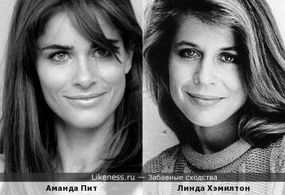 Аманда Пит поразительно похожа на Линду Хэмилтон в молодости