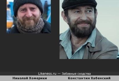 Николай Хомерики и Константин Хабенский похожи