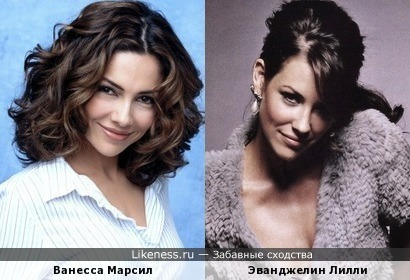 Ванесса Марсил и Эванджелин Лилли похожи