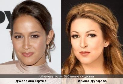 Джессика Ортиз и Ирина Дубцова похожи