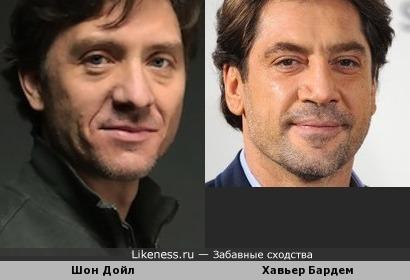 Шон Дойл и Хавьер Бардем похожи