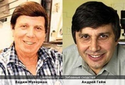 Вадим Мулерман и Андрей Гейм
